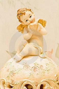 Cherub With Heart Stock Image - Image: 9611841