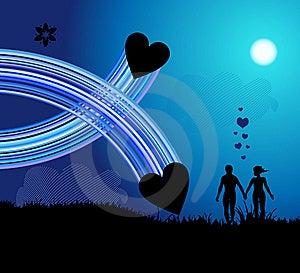 Romantic Walk Stock Image - Image: 9612381