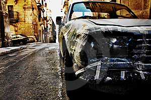 Specially Repaired Car Royalty Free Stock Photos - Image: 9613968