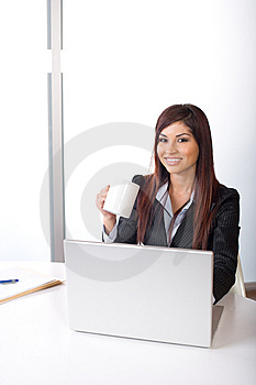 Business Woman In Modern Office Royalty Free Stock Image - Image: 9615636