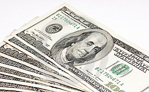 Hundred Dollars Bill Royalty Free Stock Photography - Image: 9616227
