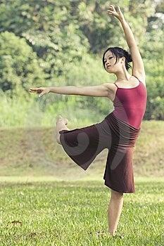 Portrait Of Asian Ballet Dancer Outdoor Stock Photo - Image: 9617360