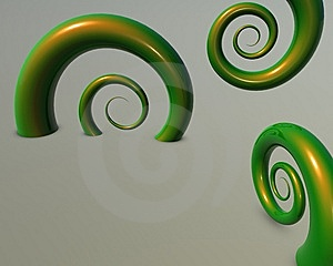 Green Abstract Floral Royalty Free Stock Photo - Image: 9618895