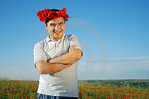 Man Into The Field Stock Images - Image: 9620954
