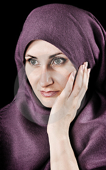 Woman With A Shawl Royalty Free Stock Image - Image: 9621246
