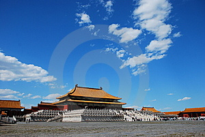 Chinese Hall 02 Stock Image - Image: 9624221