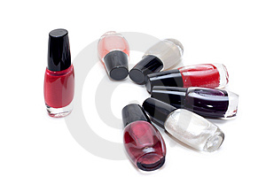 Vials Colour Varnish Nailwaer Stock Image - Image: 9626701