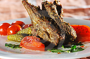Hot Meat Dishes - Bone-in Lamb Royalty Free Stock Photos - Image: 9626998