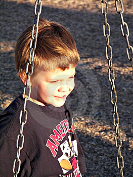 Boy On A Tire Swing Royalty Free Stock Image - Image: 9627066
