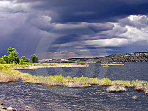 Stormy Lake Waterscape Stock Photos - Image: 9627083