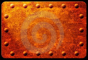 Rusty Plaque With Rivets Royalty Free Stock Image - Image: 9628166