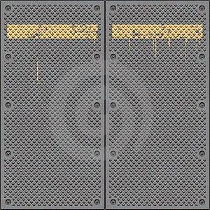 Floor Metal Plates Diamond Stock Image - Image: 9630011