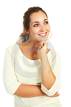 Beautiful Thoughtful Woman Royalty Free Stock Images - Image: 9632409