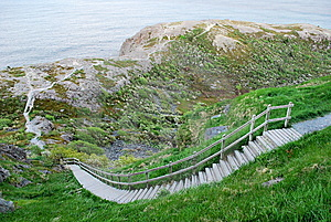 Steep Steps Leading To Ocean Royalty Free Stock Image - Image: 9635056