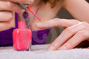 Red Nail Polish Royalty Free Stock Image - Image: 9635496