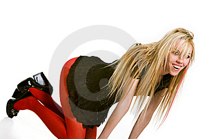 Sensual Blond Wiyh Long Hair Stock Image - Image: 9635521
