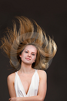 Flying Hair Stock Photos - Image: 9635553