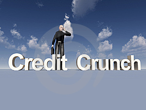 Businessman And Credit Crunch Stock Photography - Image: 9639902