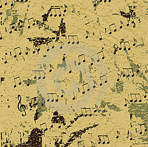 Abstract Musical Design Raster Royalty Free Stock Images - Image: 9641709