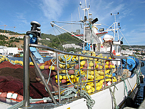 Fishing Boat In The Port Stock Images - Image: 9642084