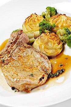 Hot Meat Dishes - Bone-in Pork Brisket Stock Images - Image: 9642244