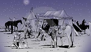 Långa Förberedande Loppkrigare För Berber Royaltyfri Fotografi - Bild: 9642727