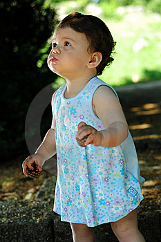 Baby Girl In Park Stock Photography - Image: 9645282