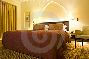 Luxurious Hotel Room Royalty Free Stock Image - Image: 9647416