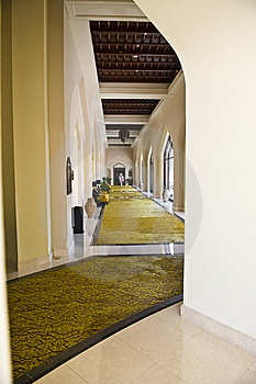 A Luxurious Corridor In A Hotel. Royalty Free Stock Image - Image: 9647426