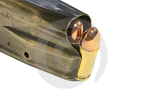 Conventional 9mm Bullets In A Magazine Stock Photography - Image: 9648822