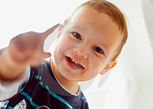A Little Boy Smiling Stock Image - Image: 9650561
