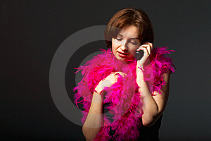 Young Woman On Phone Stock Image - Image: 9650581