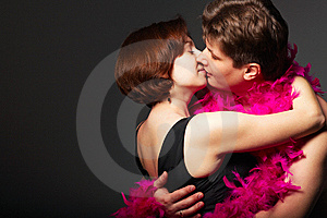 A Young Couple Kissing Each Other Stock Photo - Image: 9650630