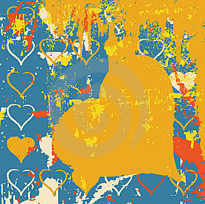Abstract Grungy Background Heart Illustration Stock Image - Image: 9651691