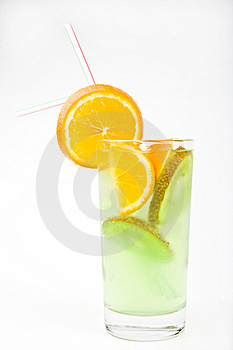 Cold Fresh Cocktail Drink With Mint Close Up Stock Images - Image: 9653114