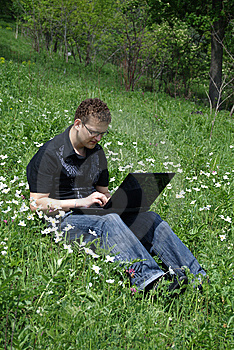 Fellow With A Notebook Royalty Free Stock Photos - Image: 9654258