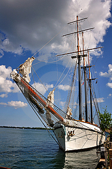 Moored Schooner Royalty Free Stock Photography - Image: 9654617