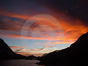 Fiery Sunset Stock Images - Image: 9657434