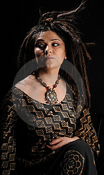 Beautiful Woman With Dreadlocks Stock Images - Image: 9658354