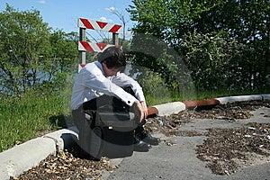 Depressed Business Man Stock Photos - Image: 9659053