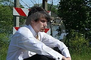 Depressed Business Man Stock Photography - Image: 9659062