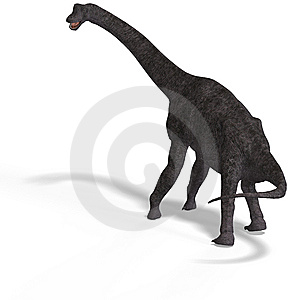 Giant Dinosaur Brachiosaurus With Clipping Path Royalty Free Stock Image - Image: 9660006