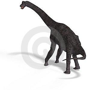 Giant Dinosaur Brachiosaurus With Clipping Path Royalty Free Stock Image - Image: 9660006
