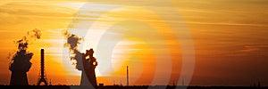 Smoke Sunset Royalty Free Stock Image - Image: 9660416
