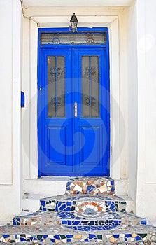 Mosaic Door Stock Photography - Image: 9663642