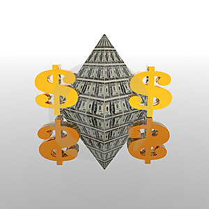 Dollar Pyramid Stock Photos - Image: 9665073