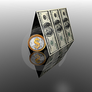 100 Usa Dollars House Roof Royalty Free Stock Photography - Image: 9665107