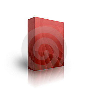 Blank Red Aqua Box Royalty Free Stock Image - Image: 9665346