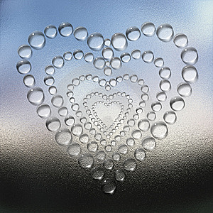 Abstract Heart Water Drops Background Stock Image - Image: 9665411