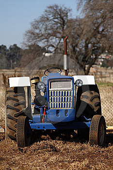 Blue Tractor Royalty Free Stock Images - Image: 9667509